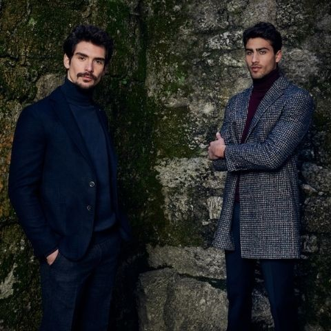 Torre uomo: wedding suits in blue and black tones